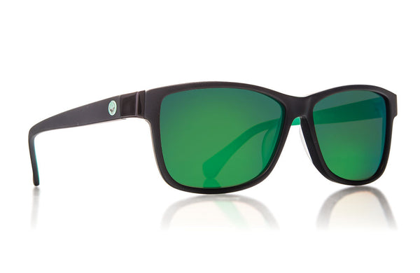 Dragon - Exit Row Matte Black Green / Green Ion Sunglasses