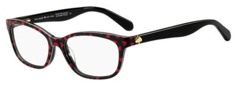 Kate Spade - Brylie 50mm Black Pattern Red Eyeglasses / Demo Lenses