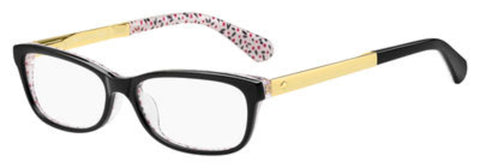 Kate Spade - Jessalyn 54mm Black Pattern Red Eyeglasses / Demo Lenses