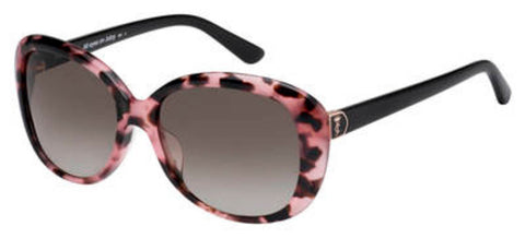 Juicy Couture - Ju 598 S Pink Havana Black Sunglasses / Brown Gradient Lenses