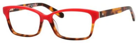 Kate Spade - Sharla 49mm Red Tortoise Fade Eyeglasses / Demo Lenses
