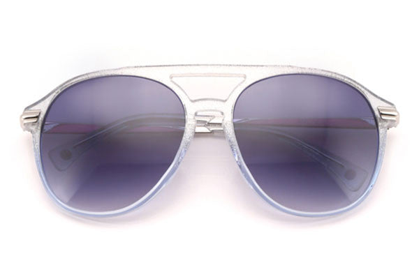 Wildfox - Baroness Crystal Cove & Gloss Silver Sunglasses