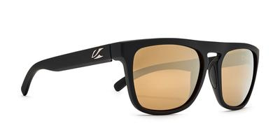 Kaenon - Leadbetter Black Matte Grip Sunglasses / Brown 12 Gold Mirror Lenses