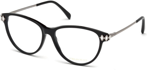 Emilio Pucci - EP5055 Shiny Black Eyeglasses / Demo Lenses