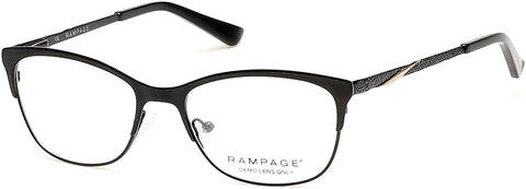 Rampage - RA0196 Shiny Black Eyeglasses / Demo Lenses