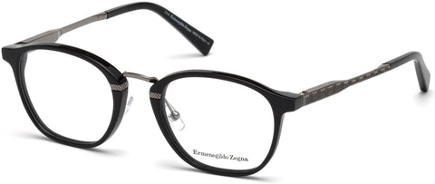 Ermenegildo Zegna - EZ5101 Shiny Black Eyeglasses / Demo Lenses