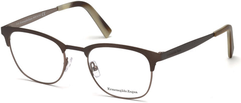 Ermenegildo Zegna - EZ5099 Dark Brown Eyeglasses / Demo Lenses