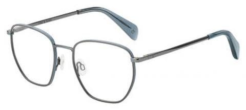 Rag & Bone - Rnb 7018 Dark Ruthenium Eyeglasses / Demo Lenses
