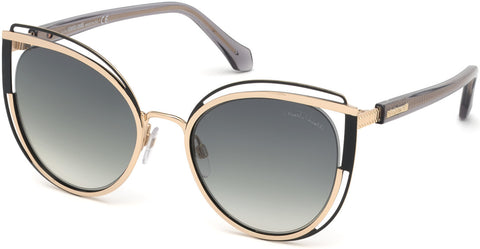 Roberto Cavalli - RC1095 Montieri Gold Sunglasses / Gradient Smoke Lenses
