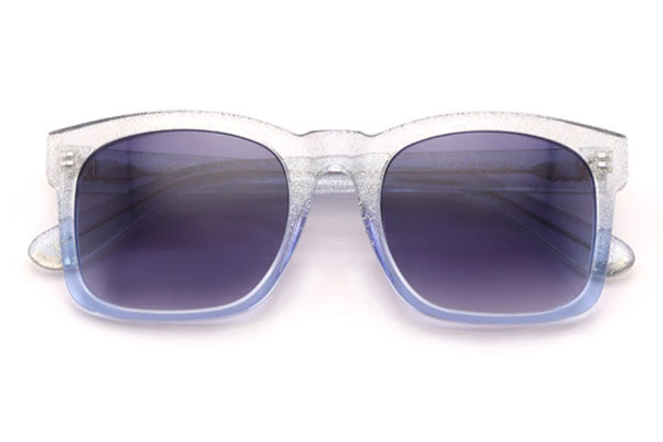 Wildfox - Gaudy Crystal Cove & Gloss Silver Sunglasses