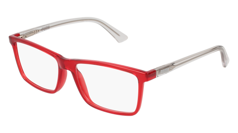 Puma - PJ0016O Junior Red + Crystal Eyeglasses / Demo Lenses