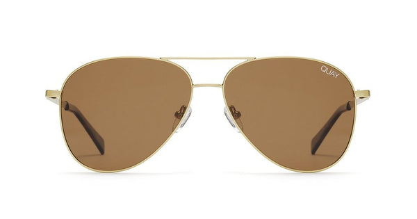0d6aefb878 Quay Still Standing Gold Sunglasses   Brown Lenses