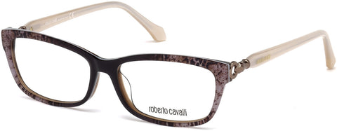 Roberto Cavalli - RC5012 Aulla Dark Brown Eyeglasses / Demo Lenses