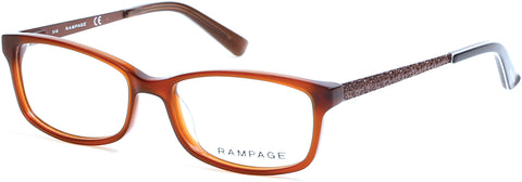 Rampage - RA0207 Shiny Dark Brown Eyeglasses / Demo Lenses