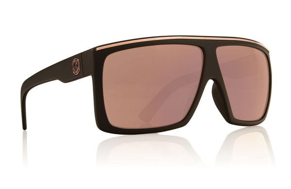 Dragon - Fame Matte Black / Rose Gold Sunglasses