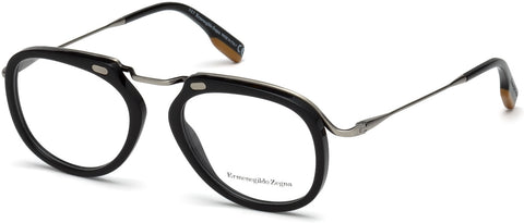 Ermenegildo Zegna - EZ5124 Shiny Black Eyeglasses / Demo Lenses