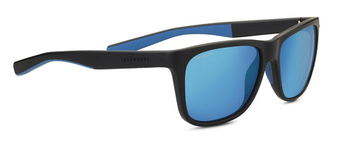Serengeti - Livio Sanded Black Sunglasses / Mineral Polarized 555nm Blue Lenses