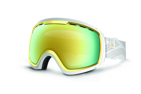 VonZipper - Feenom NLS White WGO Goggles, Gold Chrome Lenses