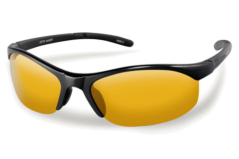 Flying Fisherman - Bristol 7793 Black Sunglasses, Yellow-Amber Lenses