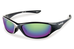 Flying Fisherman - Cabo 7735 Black Sunglasses, Amber-Green Mirror Lenses