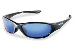 Flying Fisherman - Cabo 7735 Black Sunglasses, Smoke-Blue Mirror Lenses