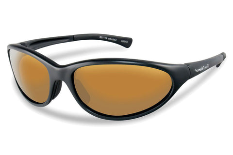 Flying Fisherman - Calcutta 7713 Black Sunglasses, Amber Lenses