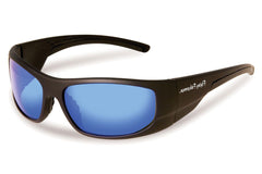 Flying Fisherman - Cape Horn 7738 Black Sunglasses, Smoke-Blue Mirror Lenses