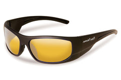 Flying Fisherman - Cape Horn 7738 Black Sunglasses, Yellow-Amber Lenses