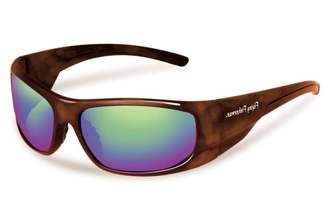 Flying Fisherman - Cape Horn 7738 Tortoise Sunglasses, Amber-Green Mirror Lenses
