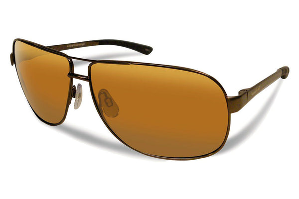Flying Fisherman - Highlander 7816 Copper Sunglasses, Amber Lenses