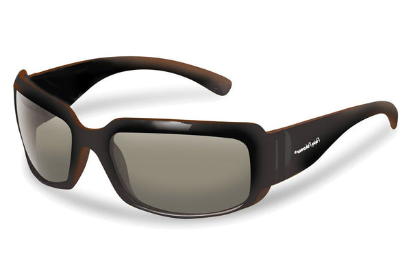 Flying Fisherman - La Palma 7744 Black-Brown Sunglasses, Smoke Lenses