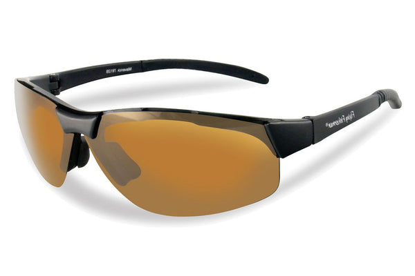 Flying Fisherman - Maverick 7812 Black Sunglasses, Amber Lenses