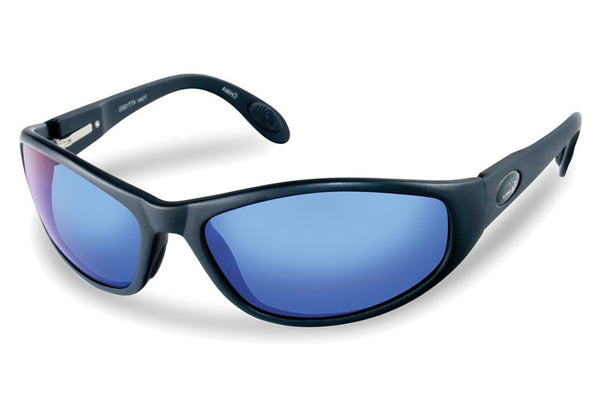 Flying Fisherman - Viper 7715 Black Sunglasses, Smoke-Blue Mirror Lenses