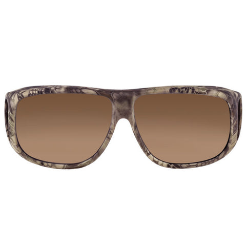 Jonathan Paul Fitovers - Aviator Kryptek Highlander Fitover Sunglasses / Polarvue Amber Lenses