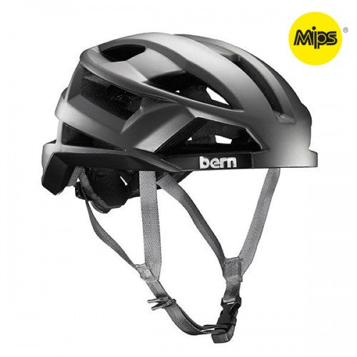 Bern - FL-1 With MIPS Satin Dark Silver Bike Helmet