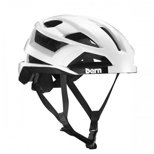 Bern - FL-1 Gloss White Bike Helmet