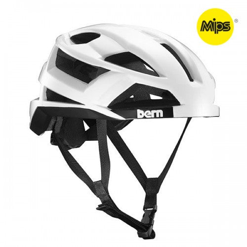 Bern - FL-1 With MIPS Gloss White Bike Helmet