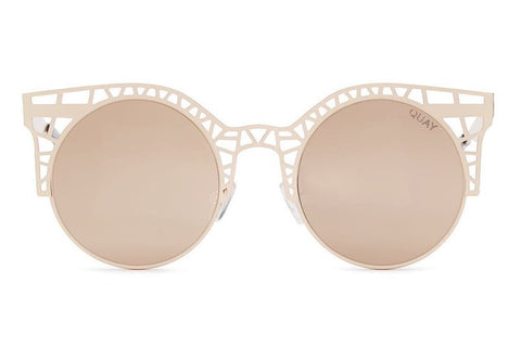 Quay Fleur Rose Gold Sunglasses, Rose Lenses