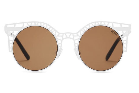 Quay Fleur White / Brown Sunglasses
