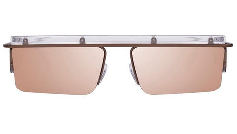 Le Specs - The Flex Satin Bronze Sunglasses / Brass Mirror Lenses