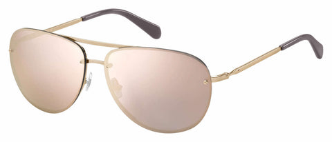 Fossil - Fos 2084 S Red Gold Sunglasses / Gray Rose Gold Lenses