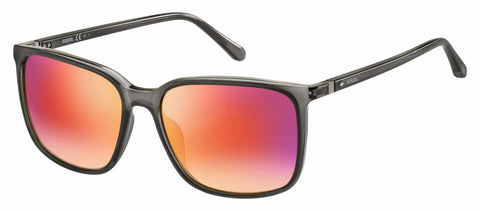 Fossil - Fos 3081 S Matte Gray Sunglasses / Red Mirror Lenses