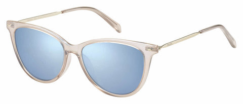 Fossil - Fos 3083 S Crystal Pink Sunglasses / Azure Mirror Lenses