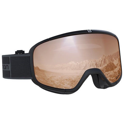 Salomon - Four Seven Access Black Snow Goggles / Universal Tonic Orange Lenses
