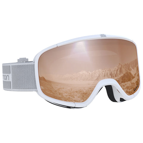 Salomon - Four Seven Access White Snow Goggles / Universal Tonic Orange Lenses