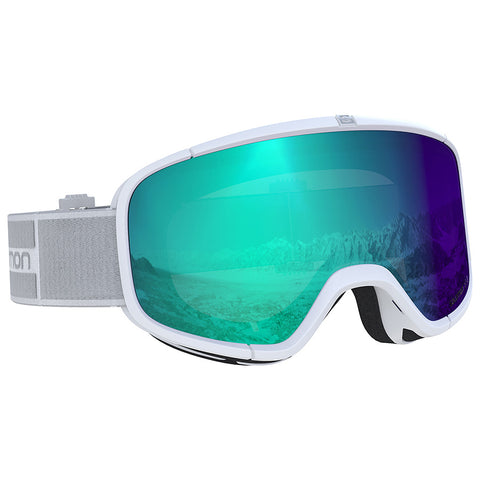 Salomon - Four Seven Photo White Snow Goggles / Photo Blue Lenses