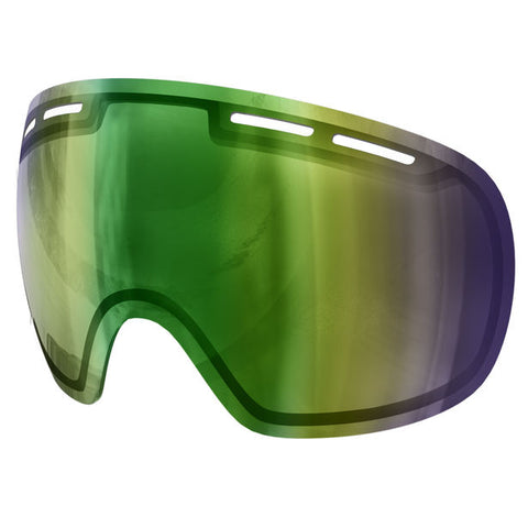 POC - Fovea Archive Persimmon + Green Mirror Snow Goggle Replacement Lens