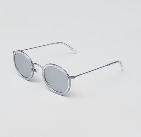 Jimmy Choo - Ave S Gold Yellow Sunglasses / Clear Mirror Lenses
