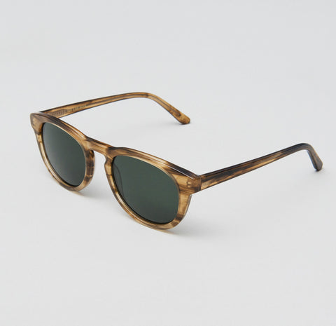 Han Kjobenhavn - Timeless 50mm Horn Sunglasses / Black Lenses