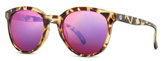 Sunski - Makanis Tortoise Sunglasses / Purple Polarized Lenses